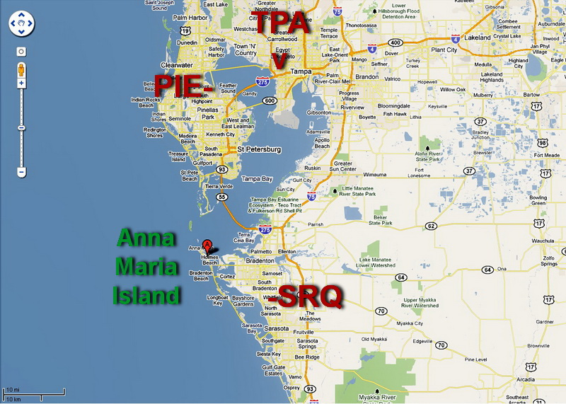 Map Of Florida Anna Maria Island Anna Maria Island Maps